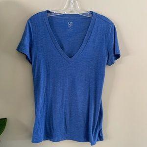 Co-op BARNEYS NEW YORK Heather Blue V Neck T-shirt